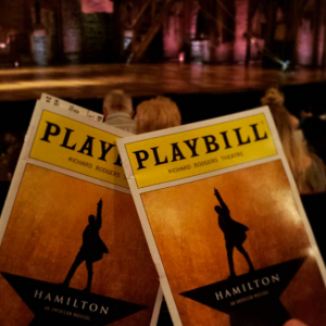 Playbills in hand, with a perfect twelfth-row view