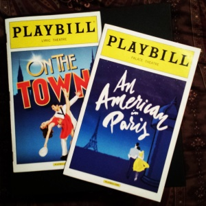 Playbills | On the Town, An American in Paris