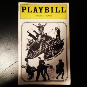 Playbill signed by Paige Price, a KAD alum and standby for the show